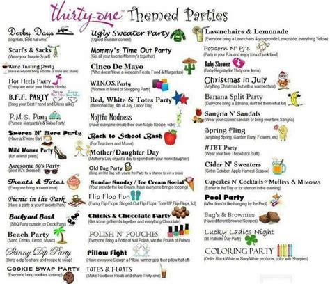 theme names for thursdays 466 best images about thirty one party ideas fun on pinterest