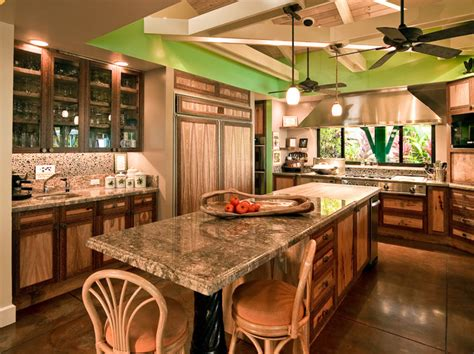 Tropical Kitchen Design | hawaiian cottage style tropical kitchen hawaii by