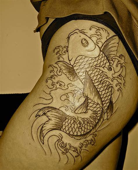 bad fish tattoo koi tattoos should always be moving upward as facing