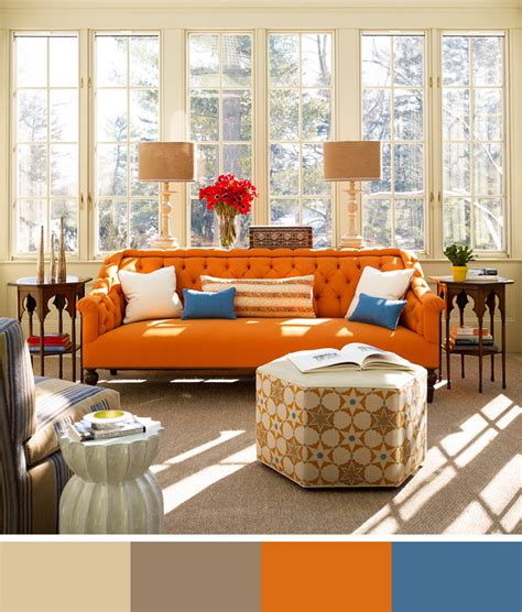 Orange Sofa Decorating Ideas by The Significance Of Color In Design Interior Design Color