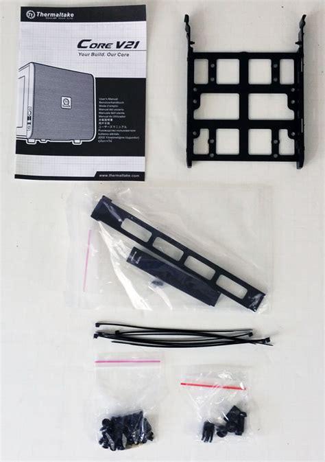 layout v21 thermaltake core v21 review servethehome