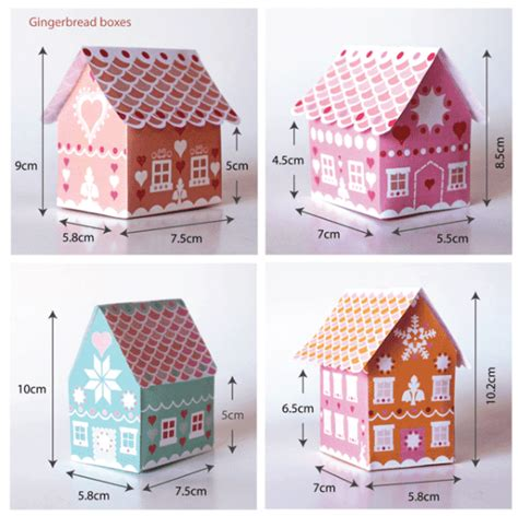 Gingerbread House Patterns Templates by Gift Box Templates For Presents 30 Patterns