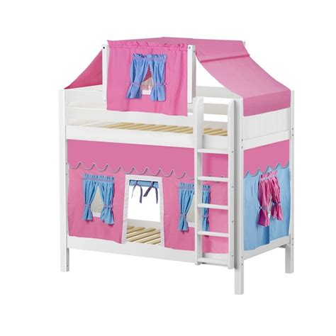 Top Bunk Bed Tent Maxtrixkids Alto28 Wp High Bunk Bed With Ladder Top Tent Underbed Curtains
