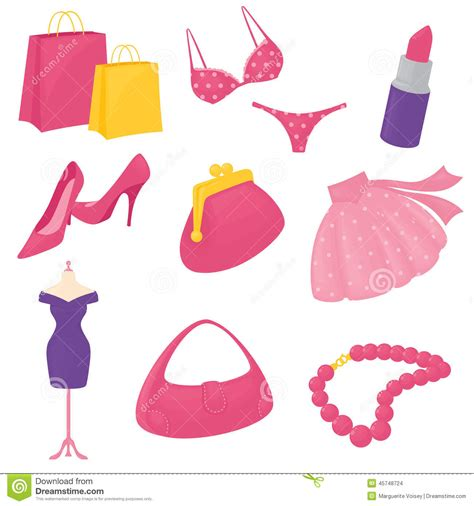 Baby Pink Bedroom Accessories - girly accessory icons stock vector image 45748724