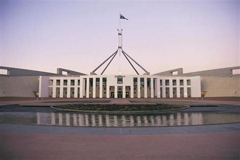 who designed the new parliament house parliamentary triangle war memorial canberra australian capital territory