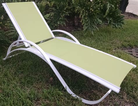 garden chaise garden green sling chaise lounge