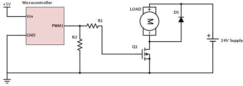 transistor mosfet pwm motor mosfet overheating in pwm electrical engineering stack exchange