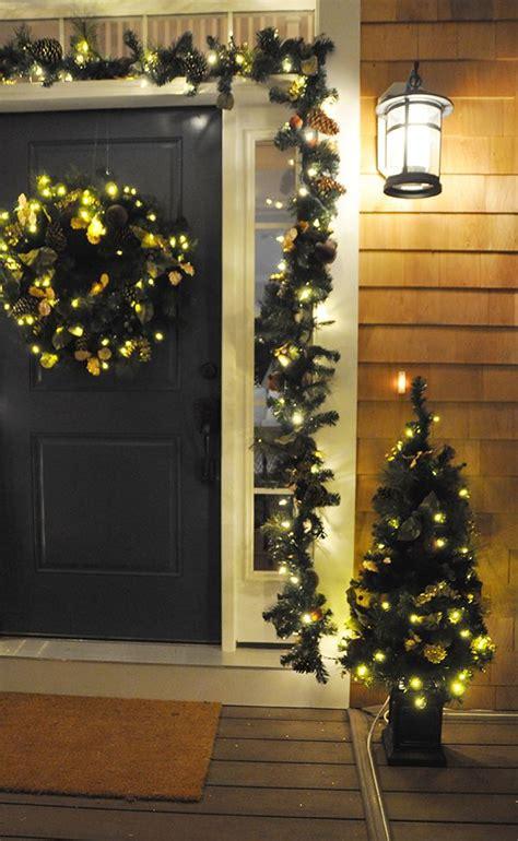 easy front door decorations for christmas front doors