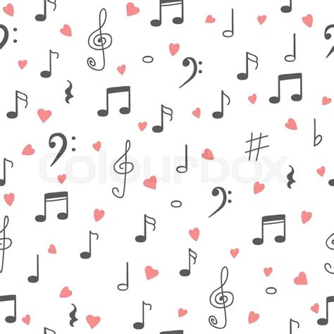 notes pattern background i love music music seamless pattern background hand