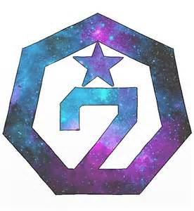 Blue Wall Stickers quot got7 galaxy logo ver 2 quot stickers by nicki17 redbubble