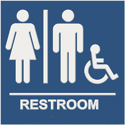 bathroom signages unisex handicap bathroom sign braille restroom sign