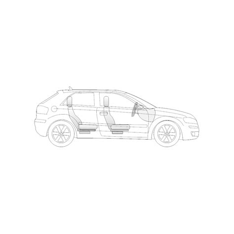 vehicle diagrams vehicle diagram 2 door compact car side view