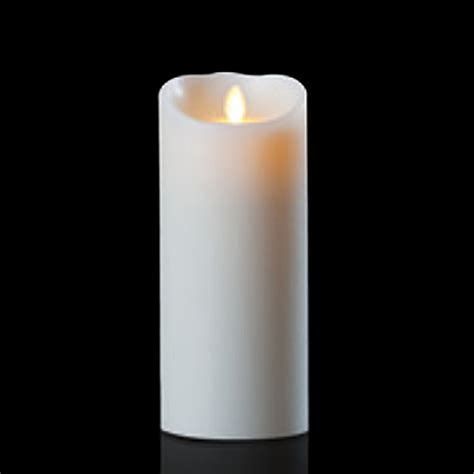 luminara candele luminara wax candle ivory 4 x 9 with timer remote ready