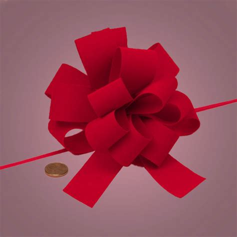 A Bow Out Of Paper - flocked velvet pull bows