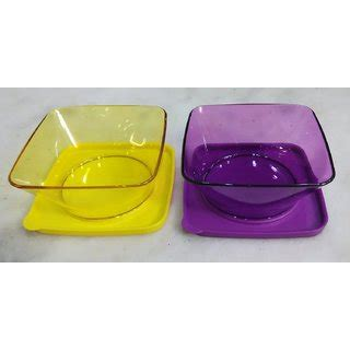 Tupperware Clear Bowl Set 2 tupperware clear square bowl set of 2 pcs buy