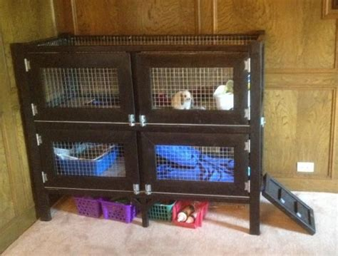 How To Build Your Own Rabbit Hutch two story rabbit hutch do it yourself home projects from white bunny cage