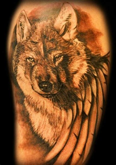 Wolf And Eagle Tattoo Tattoo For Dad Pinterest Eagle And Wolf Tattoos