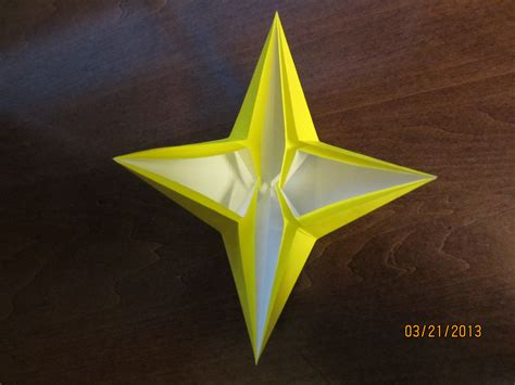 Origami 4 Point - daily origami 42 four pointed by naganeboshni on