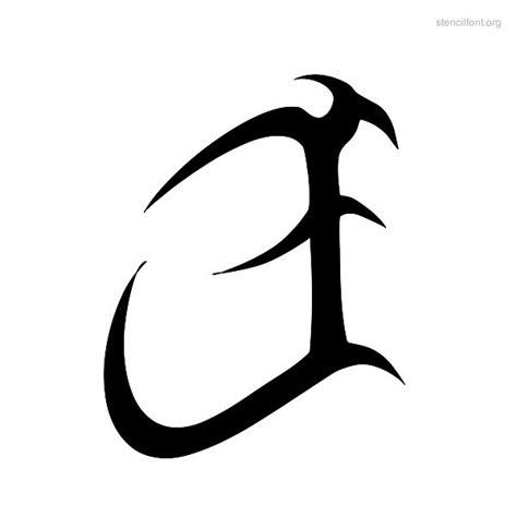tattoo tribal stencil font stencil font org