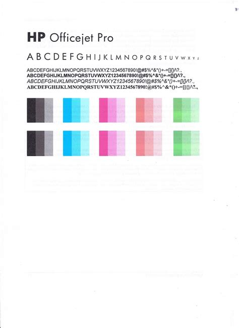 Hp Officejet A909a 3 In 1 Printer Does Not Print Colour Hp Printer Color Test Page