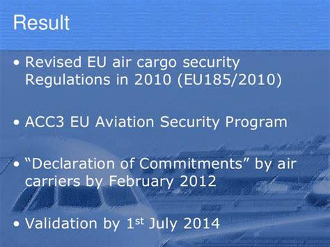 air cargo security and eu acc3 ra3 and kc3