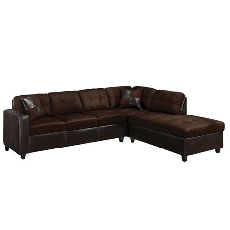 acme sectional acme furniture milano faux leather 2 piece sectional sofa