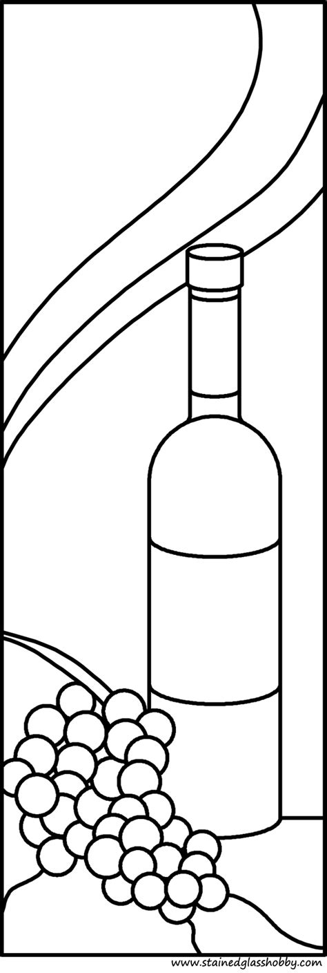 free coloring pages of wine glass