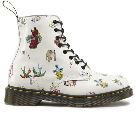 dr tattoo off dr martens mens pascal white skins soft leather