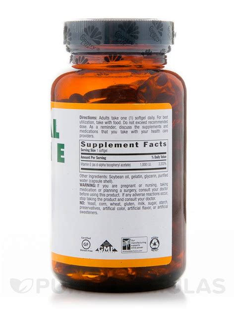natural vitamin e 1000 iu 120 softgels