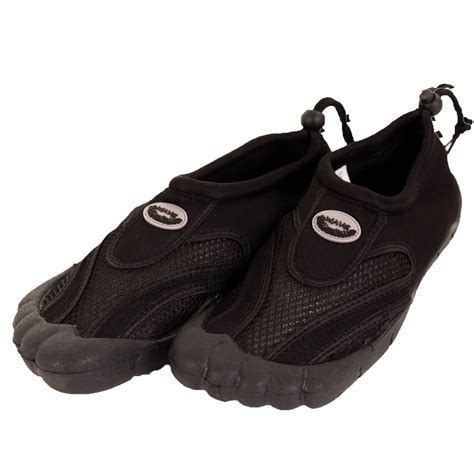 mens toe slide waterproof shoes aqua socks slip on mesh