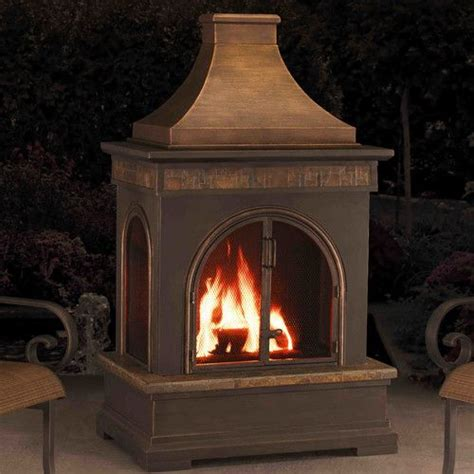 Metal Wood Burning Fireplace by Hardy Slate Steel Wood Burning Outdoor Fireplace