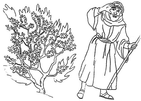 burning house coloring page moses bedazzled to burning bush coloring pages netart