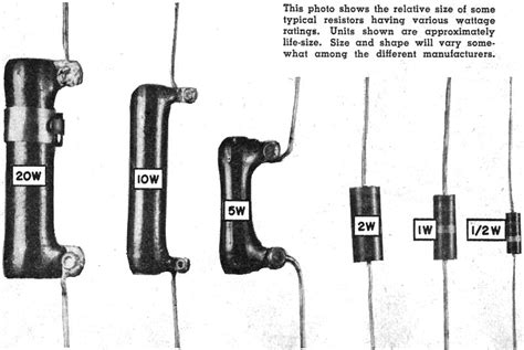 typical resistor power rating how to use ohm s february 1956 popular electronics rf cafe
