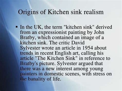 Social Realism Kitchen Sink Drama Definition