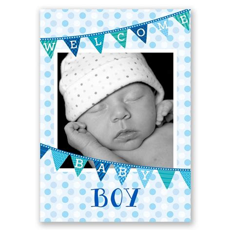 bany boy welcome baby boy birth announcement invitations by