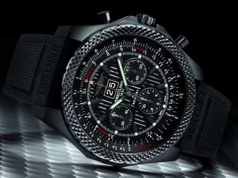 breitling bentley on wrist breitling for bentley 6 75 midnight carbon limited edition