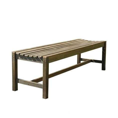 home depot wood bench vifah renaissance 5 ft backless patio bench v1613 the