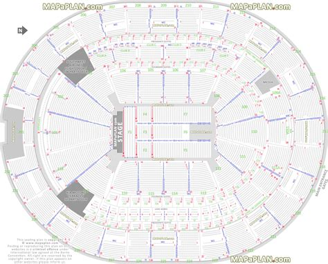 amway center floor plan orlando amway center detailed seat row numbers end stage concert sections floor plan map
