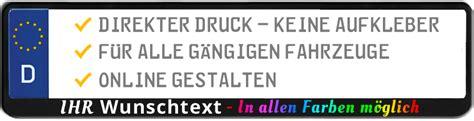 Kennzeichenhalter Aufkleber Logo by 2 Schwarze Kennzeichenhalter Mit Wunschtext Logo Werbung