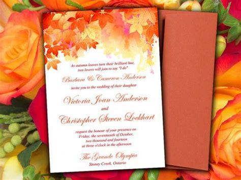Name Card Fall Templat 2 X 3 1 2 by Diy Wedding Invitation Template Quot Watercolor Fall Quot