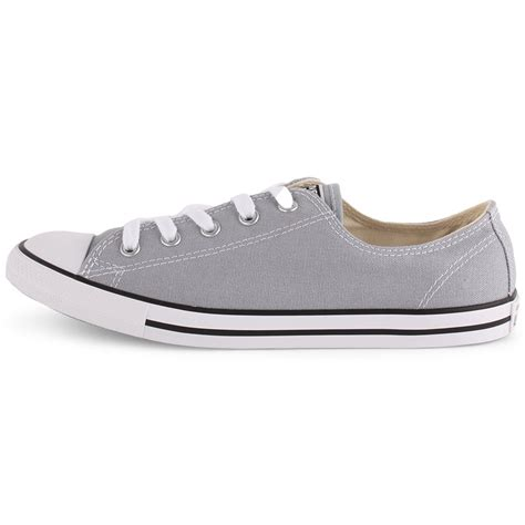 converse chuck dainty ox womens trainers in light grey