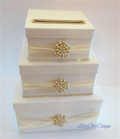 Handmade Card Box - rhinestone wedding card holder handmade card box custom