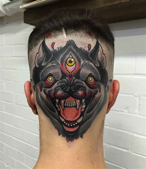 eyeball tattoo on back of head back head tattoo best tattoo ideas gallery