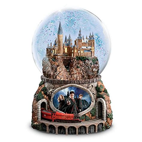 rotating train snow globe harry potter musical glitter globe with rotating and image lights up by the bradford