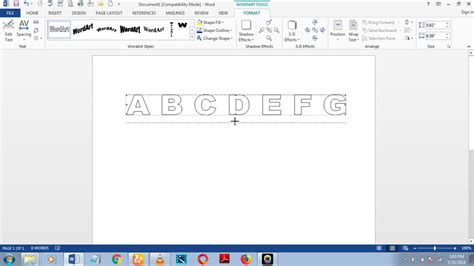 How To Make Dotted Letters In Word