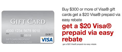 1 Dollar Visa Gift Card - get a free 20 visa gift card with staples rebate