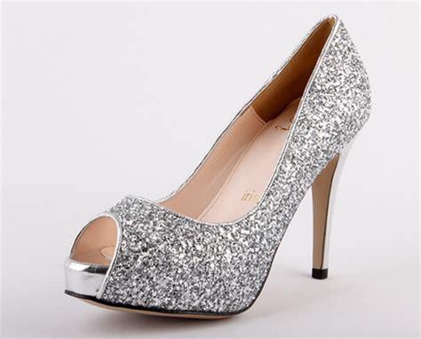 silver sparkle high heels silver glitter high heels