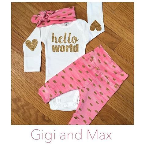 Ready Sis Legging Cotton 34 Celana Legging Murah our pink and gold newborn going home is ready to ship baby clothes gigi and max