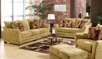 sofa with brick walls in rustic living room