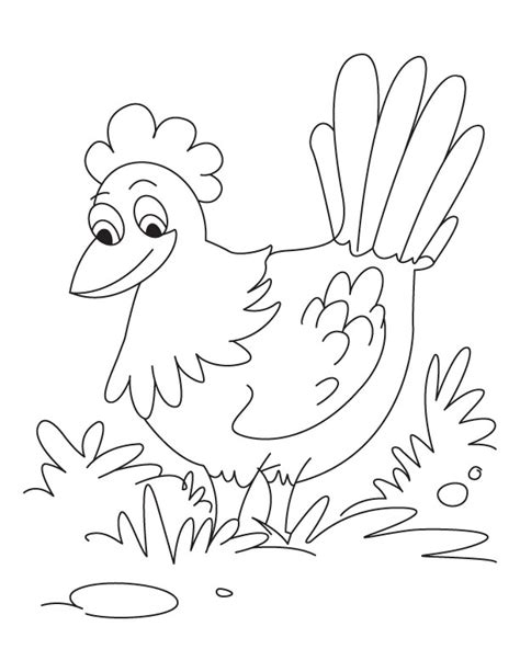 free coloring pages of little red hen